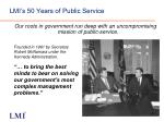 lmi s 50 years of public service