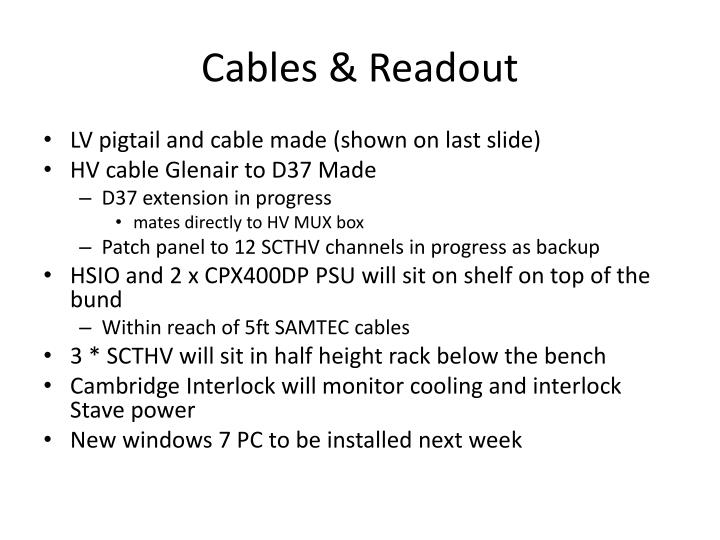 Cables & Readout