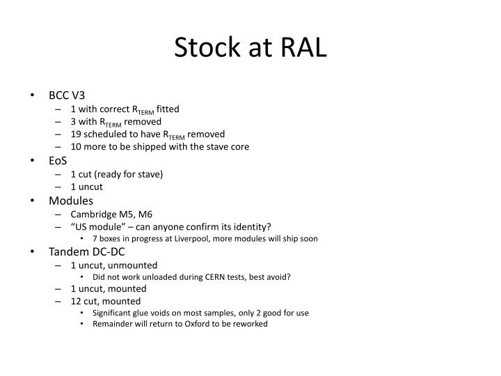 Stock at ral