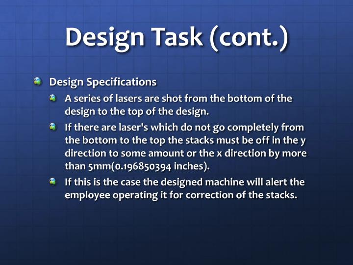 Design Task (cont.)