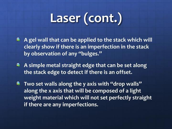 Laser (cont.)