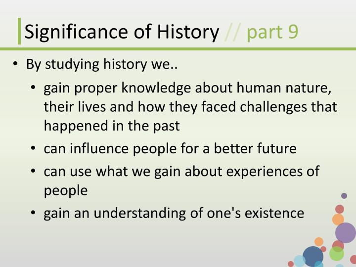 Significance of History