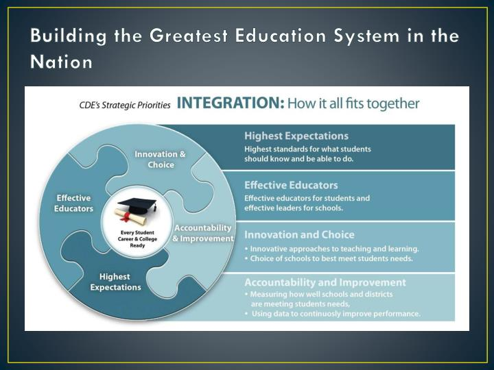 Building the Greatest Education System in the Nation