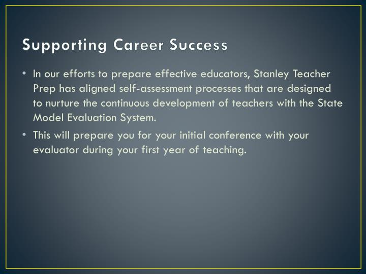 Supporting Career Success