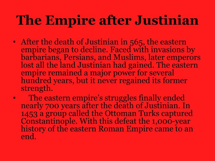 The Empire after Justinian