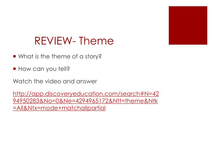 REVIEW- Theme