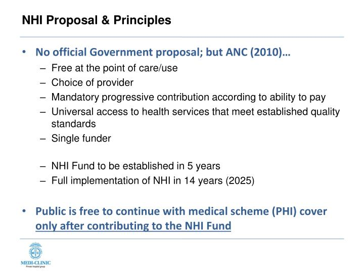 NHI Proposal & Principles