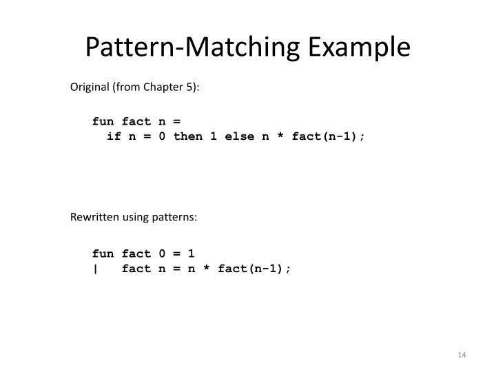 Pattern-Matching Example