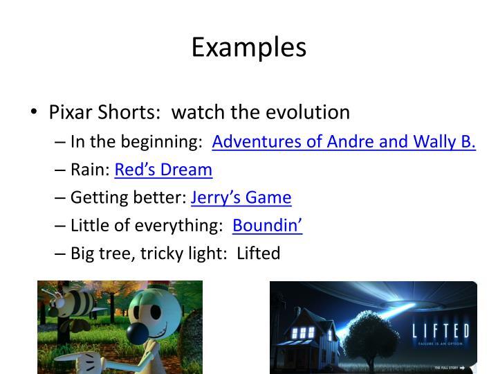 Pixar Shorts:  watch the evolution