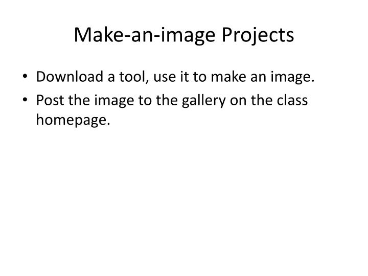 Make-an-image Projects