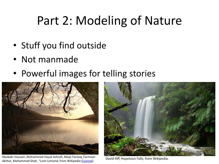 Part 2: Modeling of Nature
