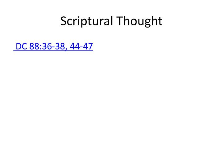 Scriptural thought