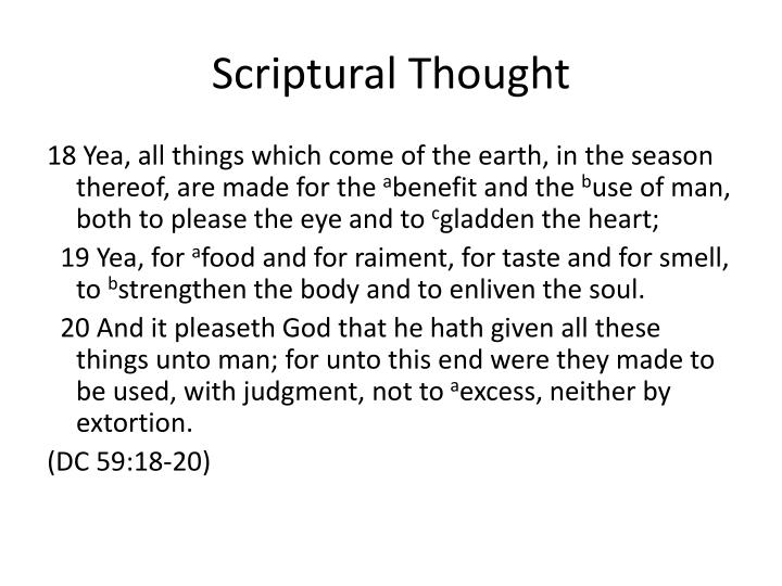 Scriptural thought1