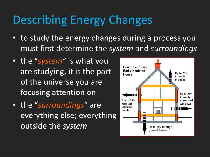 Describing Energy Changes