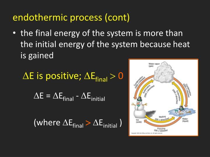 endothermic process (cont)