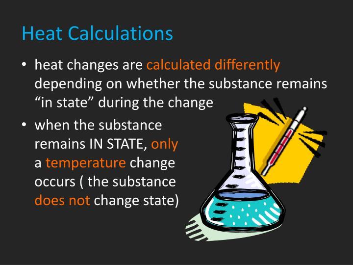 Heat Calculations