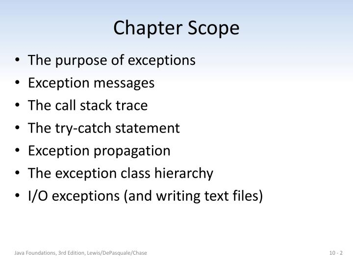 Chapter scope