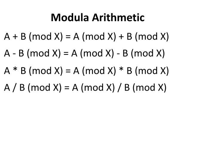 Modula Arithmetic