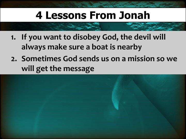4 Lessons From Jonah