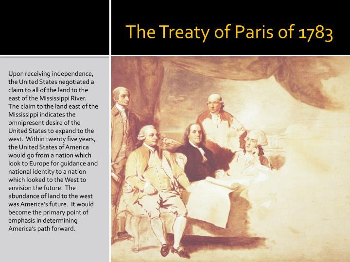 The Treaty of Paris of 1783