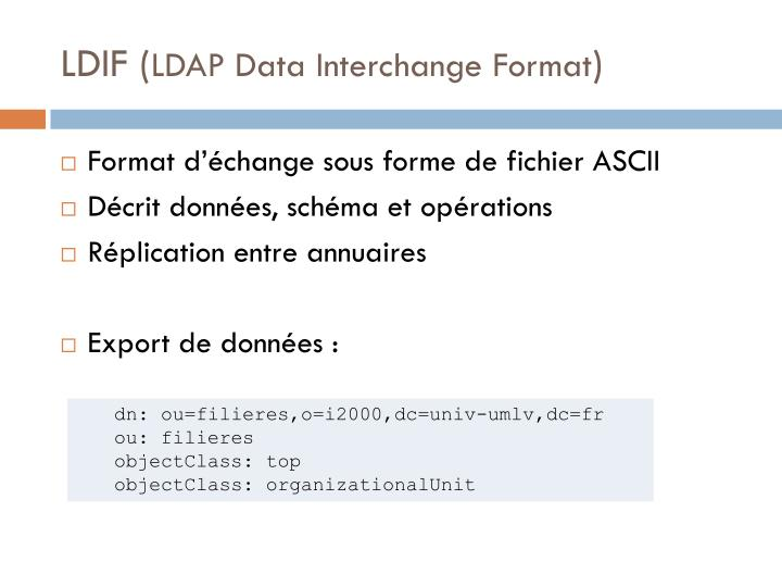 LDIF (