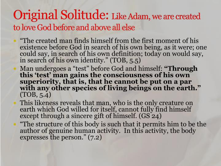 Original Solitude:
