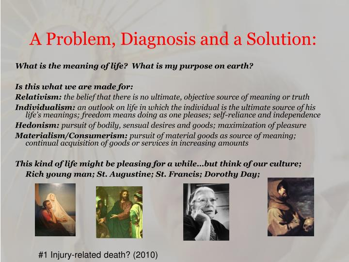 A Problem, Diagnosis and a Solution: