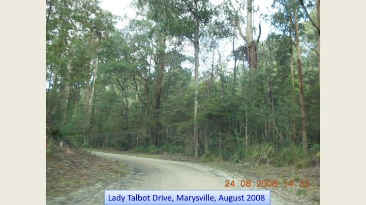 Lady Talbot Drive, Marysville, August 2008