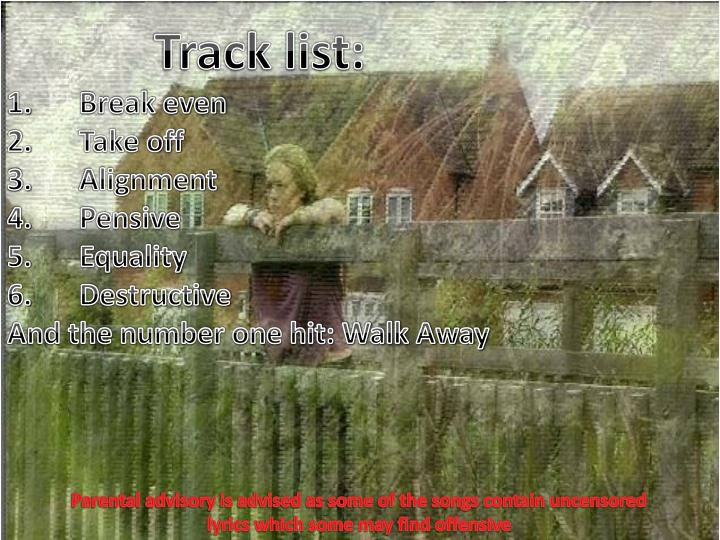 Track list: