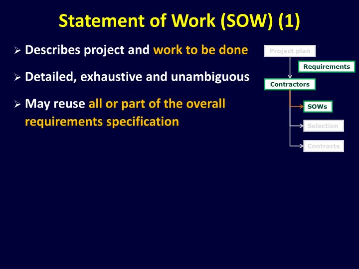 Statement of Work (SOW) (1)