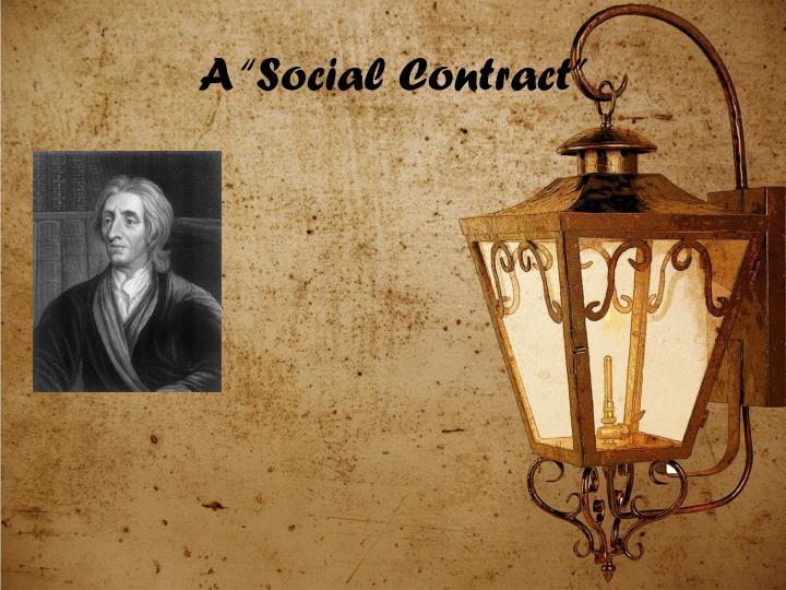 """A """"Social Contract"""""""