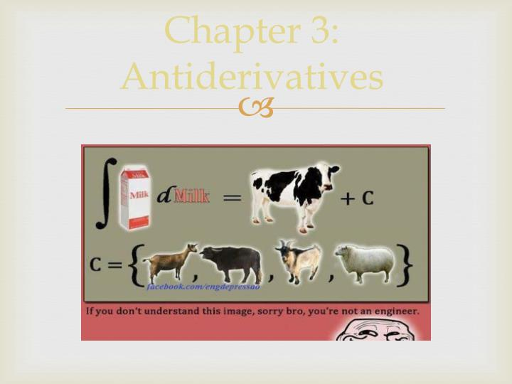 Chapter 3: Antiderivatives