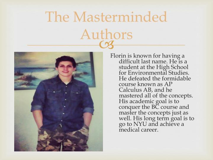 The Masterminded Authors