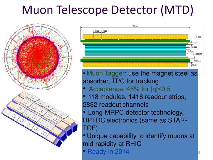 Muon Telescope Detector (MTD)