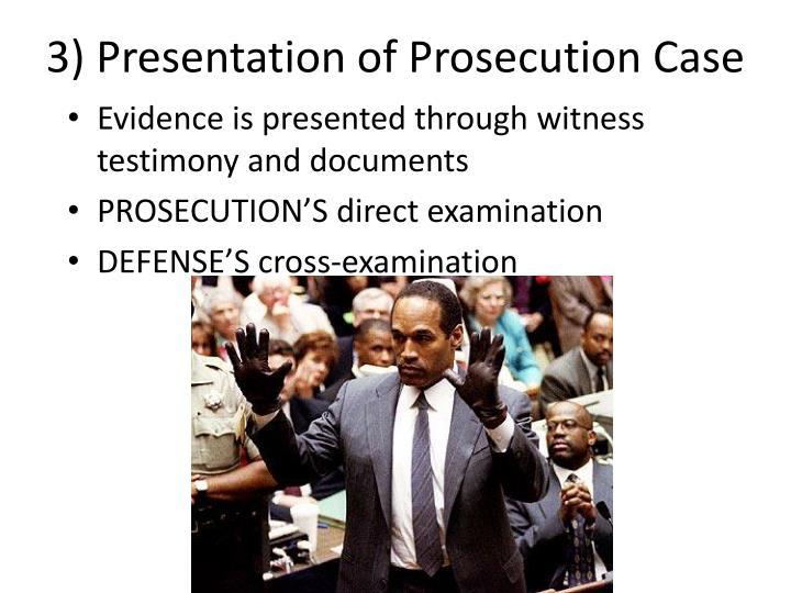 3) Presentation of Prosecution Case