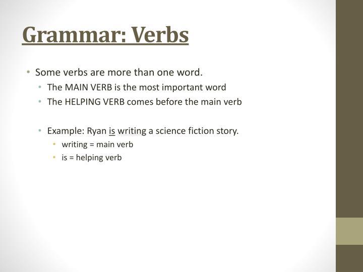 Grammar: Verbs