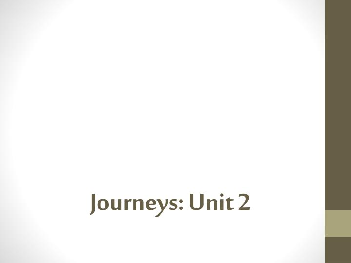 Journeys unit 2
