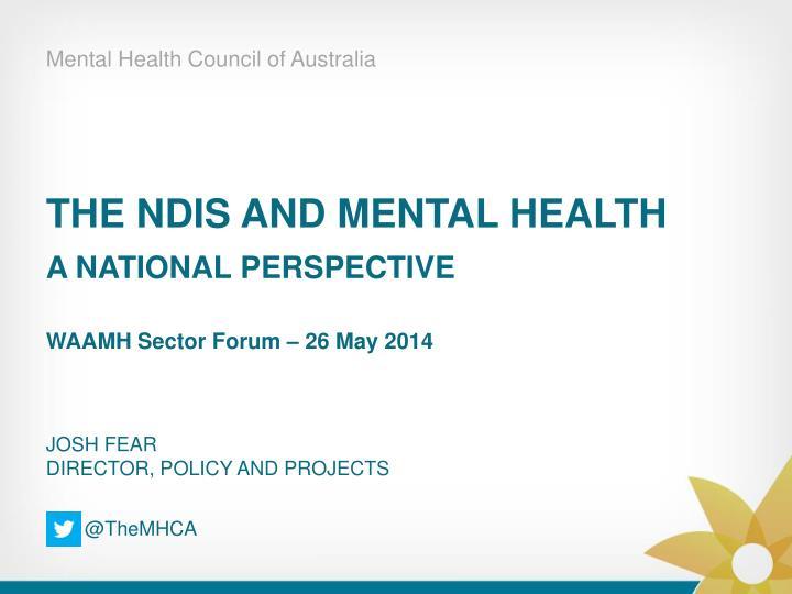 Mental Health Council of Australia
