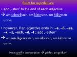 rules for superlatives