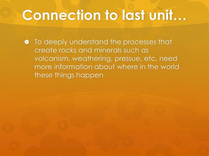 Connection to last unit…