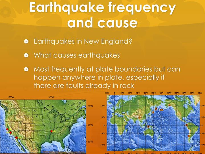 Earthquake frequency and cause
