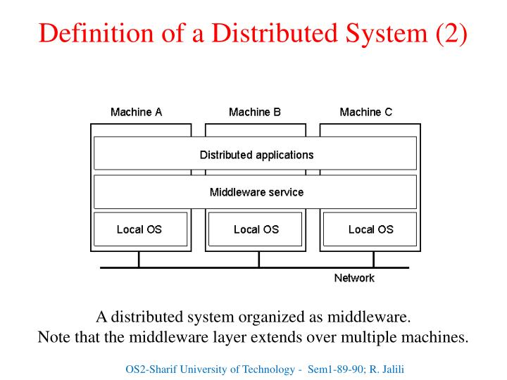 Definition of a Distributed System (2)