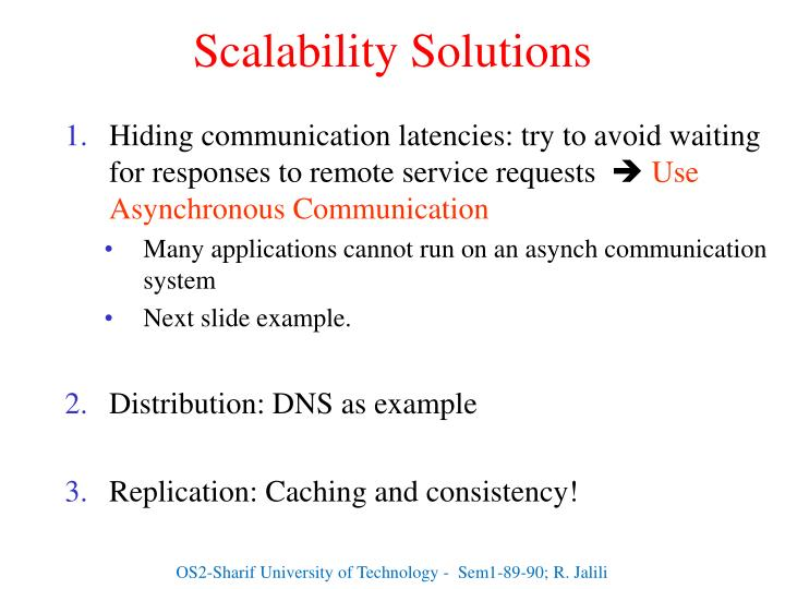 Scalability Solutions