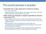 the current process in practice