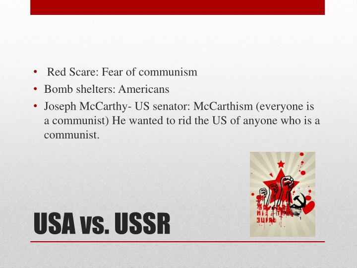 Red Scare: Fear of communism