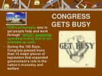 congress gets busy