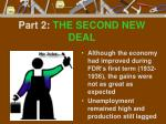 part 2 the second new deal
