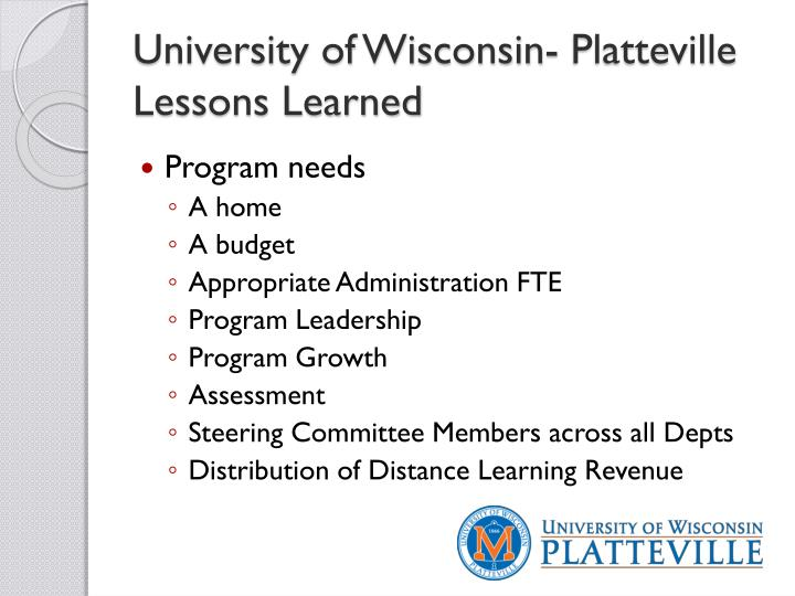 University of Wisconsin- Platteville
