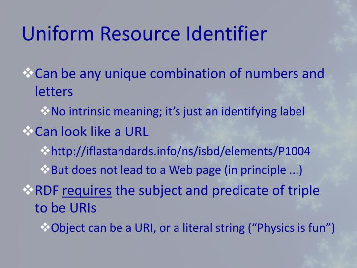 Uniform Resource Identifier