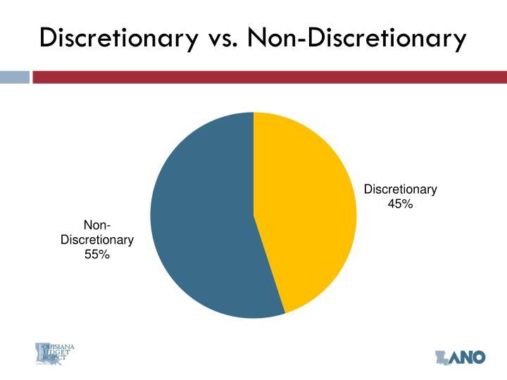 Discretionary vs. Non-Discretionary